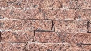 Колота червона плитка з граніту Лезніки