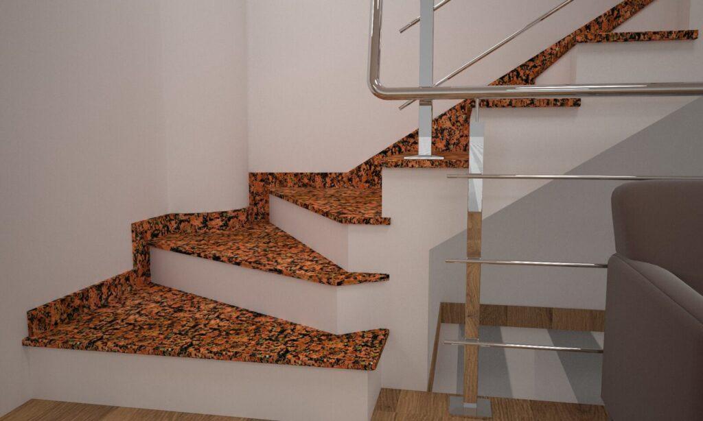 Сапожок для лестницы из Емельяновского гранита