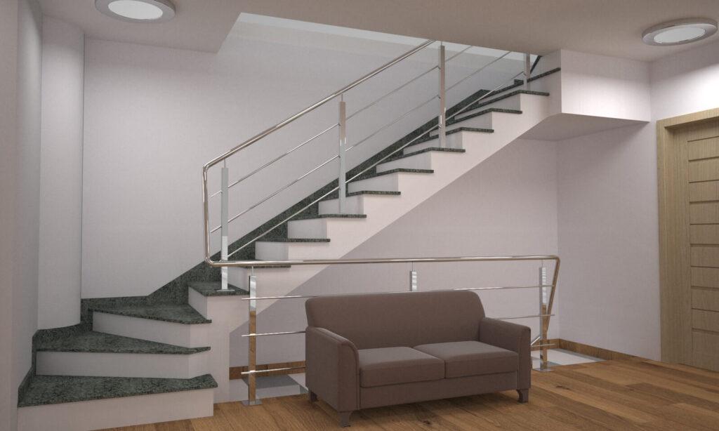 Лестница из Гацковского гранита