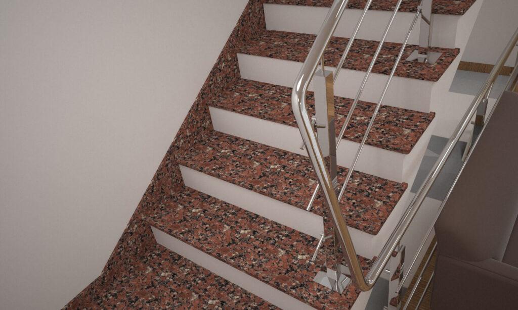 Плинтус для лестницы из Капустинского гранита