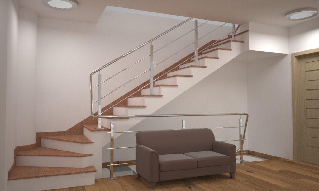 Лестница из Кишинского гранита