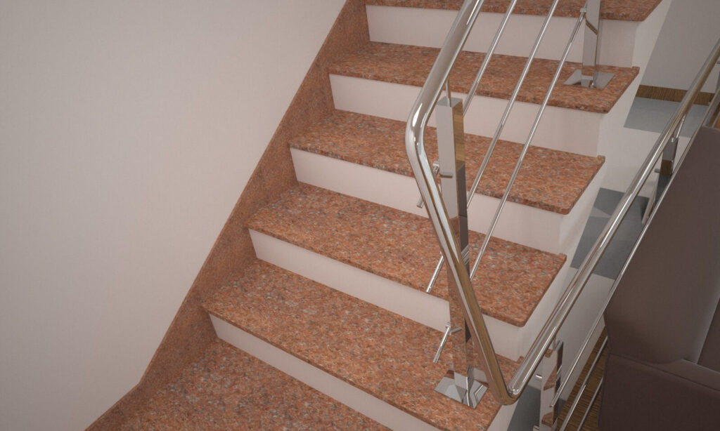 Плинтус для лестницы из Кишинского гранита