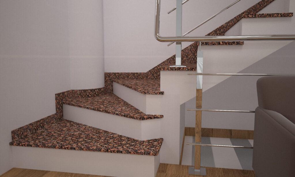 Сапожок для лестницы из Крупского гранита