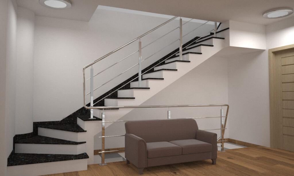 Лестница из лабрадорита Irina Blue