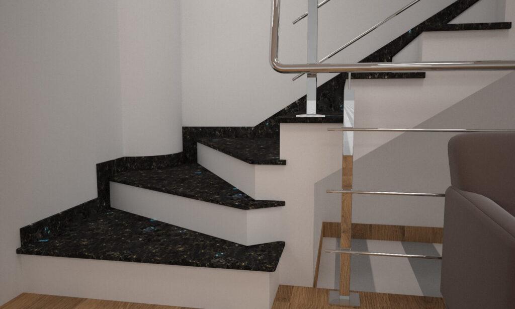 Сапожок для лестницы из лабрадорита Irina Blue