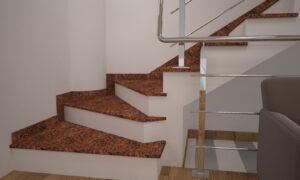 Сапожок для лестницы из Лезниковского гранита