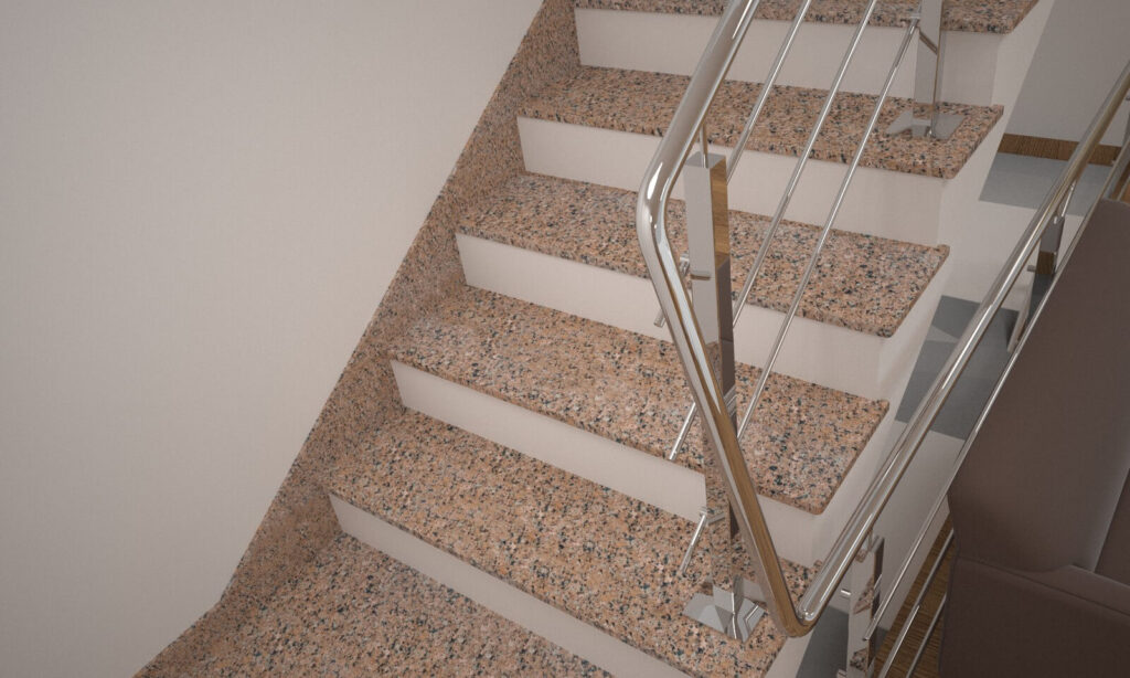 Плинтус для лестницы из Межиричского гранита