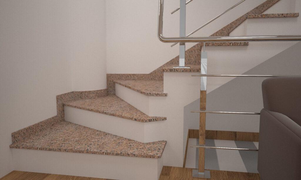 Сапожок для лестницы из Межиричского гранита