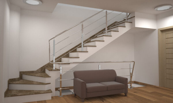 Модель сходів з турецького мармуру Emperador Light
