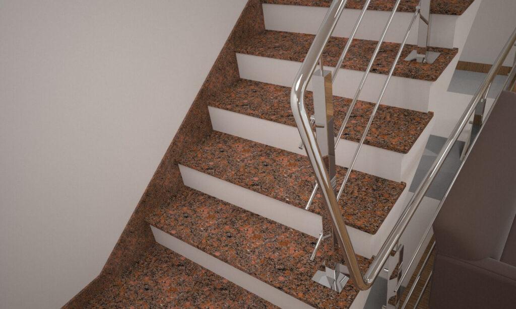 Плинтус для лестницы из Новоданиловского гранита