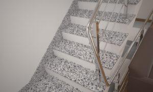 Плинтус для лестницы из Покостовского гранита