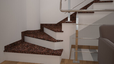 Інтер'єрні сходи з Токівського граніту