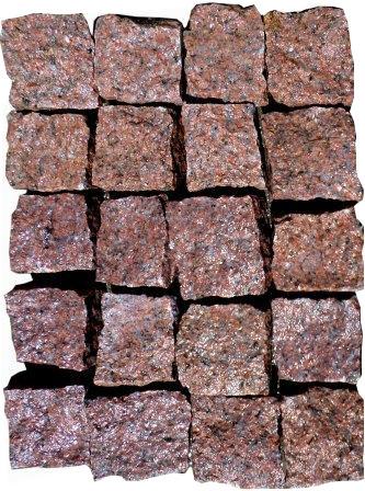 бруківка гранітна колота Maroon Black
