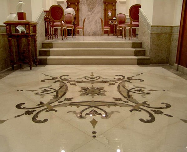 Підлога та мармурова мозаїка