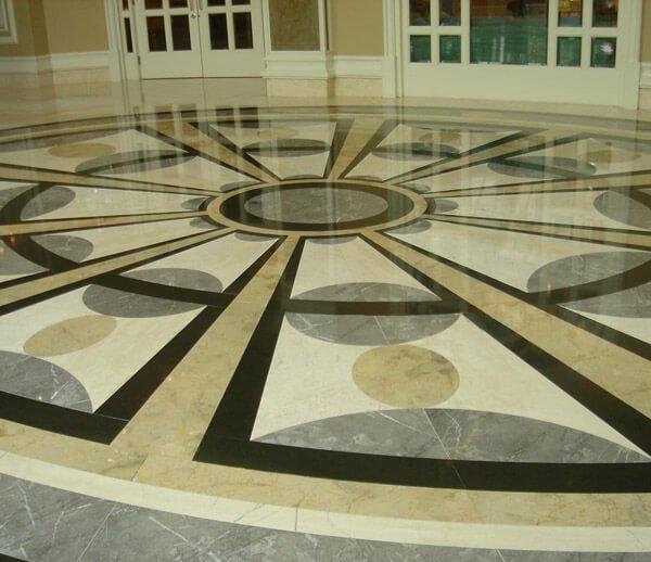 Панорамная мозаика из мрамора