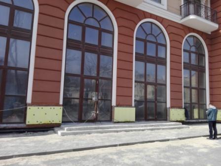 Фасад здания до монтажа