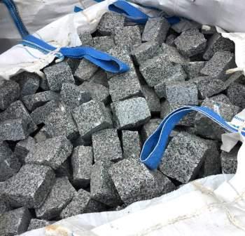 колотая гранитная брусчатка Grey Ukraine