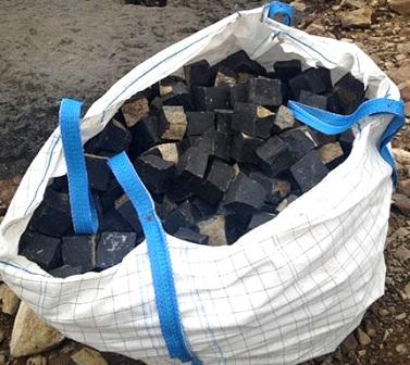 бруківка гранітна колота Bazalt