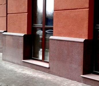 отделка фасада гранитом