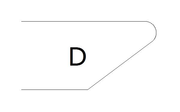 фаска D