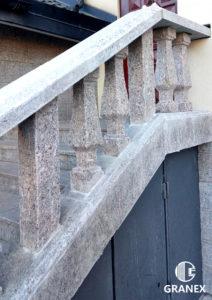 Балясины и лестница из жёлтого Софиевского гранита Skifiya Gold