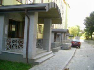 ступени и фасад из гранита