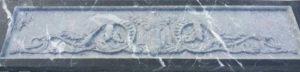 резная панель из чёрного мрамора для камина Львов