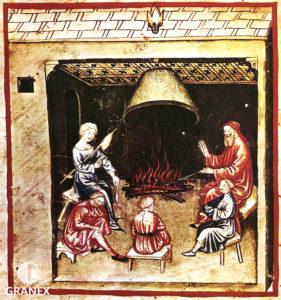 Средневековый камин