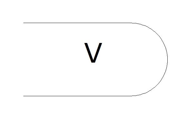 фаска V