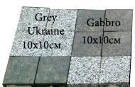 бруківка гранітна пиляна Grey Ukraine, Gabbro