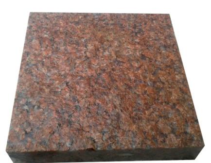 бруківка гранітна пиляна Maroon Black 20x20