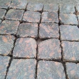 Галтована бруківка з Корнинського граніту 10х10х3 см