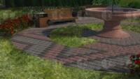 Брусчатка галтованная Покостовская, Токовская и габбро (парк)
