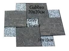 Бруківка пиляна Gabbro, Grey Ukraine