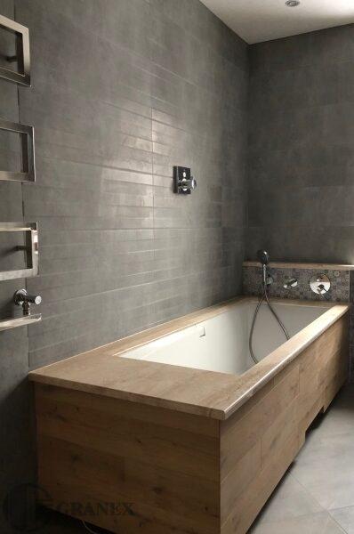 Коричнева ванна з італійського мармуру
