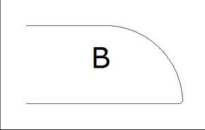 Фаска B (В)
