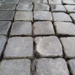 Галтована бруківка з каменю Габро 10х10х3