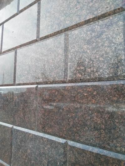 Гранит Дидковичи на фасаде