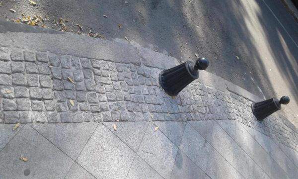 Гранит на пешеходной зоне в Одессе