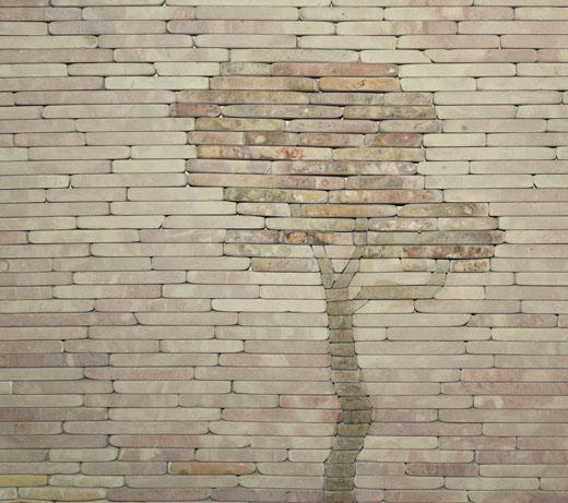 Орнамент из колотого камня