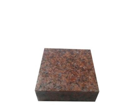 гранітна бруківка пиляна Maroon Black 10x10