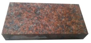 Гранитная брусчатка пиленая Maroon Black 20х10
