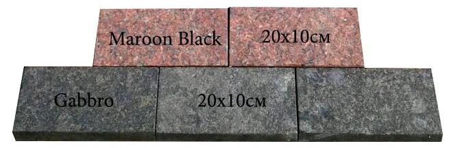 Бруківка пиляна Maroon Black, Gabbro