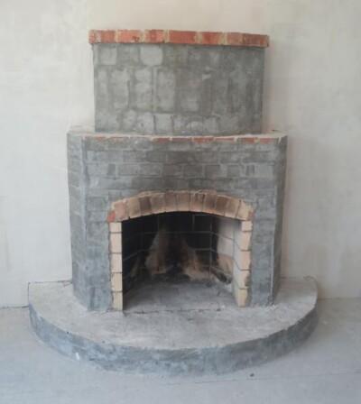Исходный вид камина Барокко