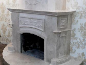 Камин: мрамор Milas White - Новая Каховка, 2018 год