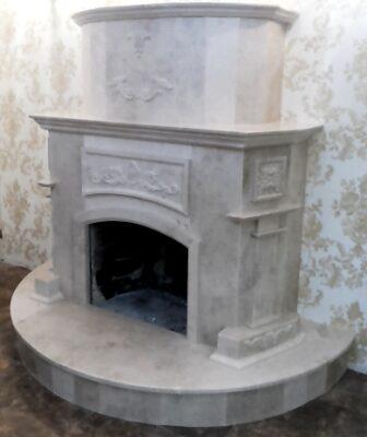 камин из белого мрамора-Milas-White-Одесса купить