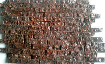 колотая гранитная (соломка, лапша) плитка Rosso Santiago, Одесса