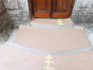 Лестница храма перед облицовкой гранитом