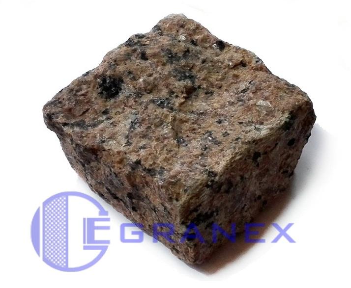 гранітна бруківка колота Maroon Black