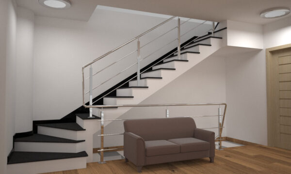 Лестница из базальта